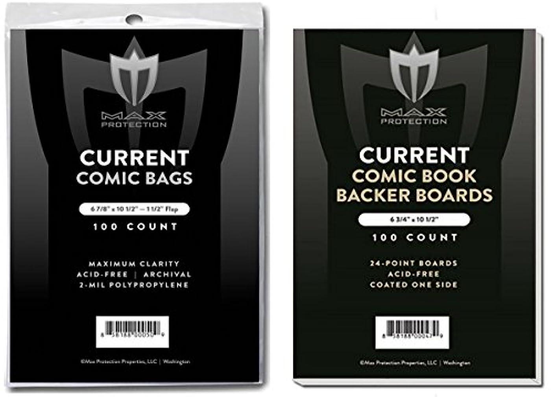 試してみる姉妹自治的(500) Current Size Ultra Clear Comic Book Bags and Boards - by Max Pro (Qty= 500 Bags and 500 Boards)