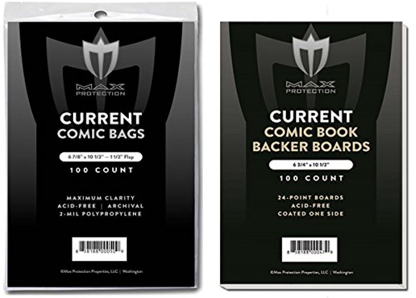 猫背癌お酒(500) Current Size Ultra Clear Comic Book Bags and Boards - by Max Pro (Qty= 500 Bags and 500 Boards)