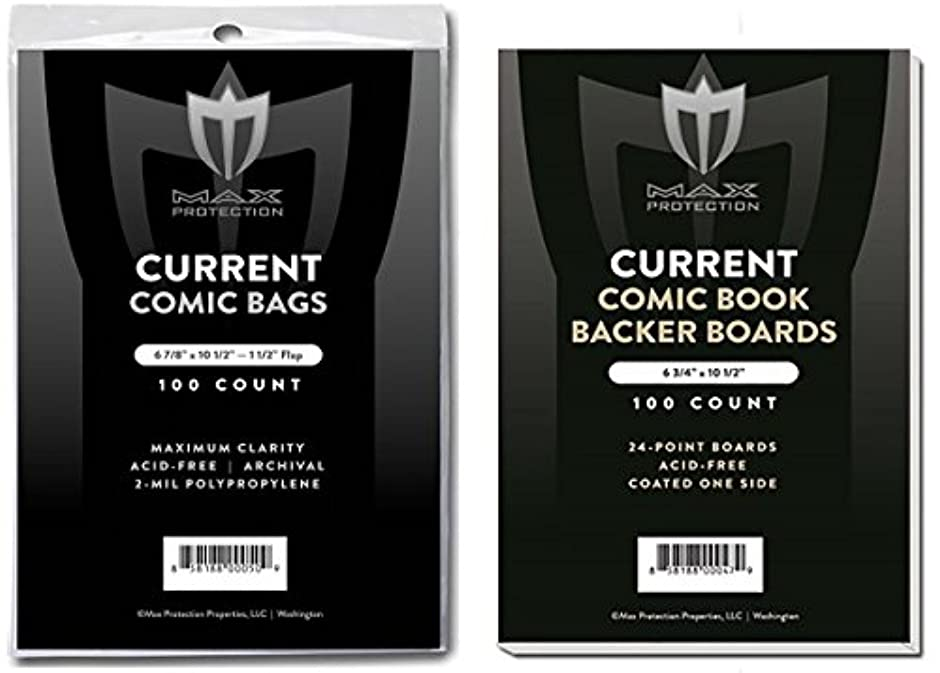 推進力溶接乞食(500) Current Size Ultra Clear Comic Book Bags and Boards - by Max Pro (Qty= 500 Bags and 500 Boards)
