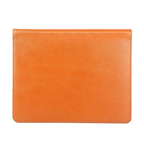 牛革ポータブルビジネスパッドケースA4サイズファイルipad 4レチナ/ ipad 3 / ipad 2( イエロー) (iPad 4 Retina/iPad 3/iPad 2)