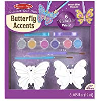 Melissa & Doug Decorate-Your-Own Butterfly Accents Craft Kit [並行輸入品]