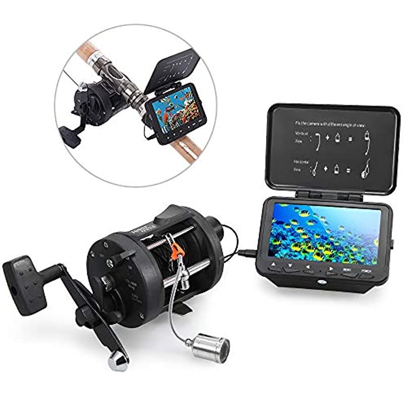 悪性の適応統治するLIXADA 魚群探知機 水中釣りカメラ フィッシュファインダー 高解像度カメラ 140°広角 15M / 30Mケーブル