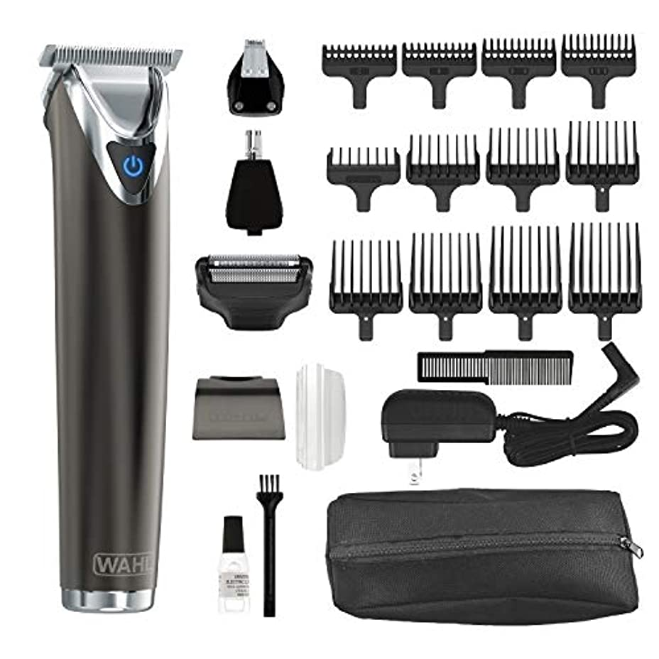 白鳥スチール配管工Wahl Clipper Slate Stainless Steel Lithium Ion Plus Beard Trimmers for Men, Electric Shavers, Nose Ear Trimmers, Rechargeable All in One Men's Grooming Kit, by the Brand used by Professionals #9864 Wahl