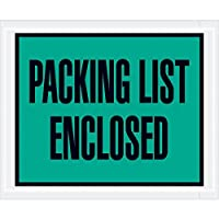 Boxes Fast Tape Logic Packing List Enclosed Envelopes 4 1/2 x 5 1/2 Green (Pack of 1000) [並行輸入品]