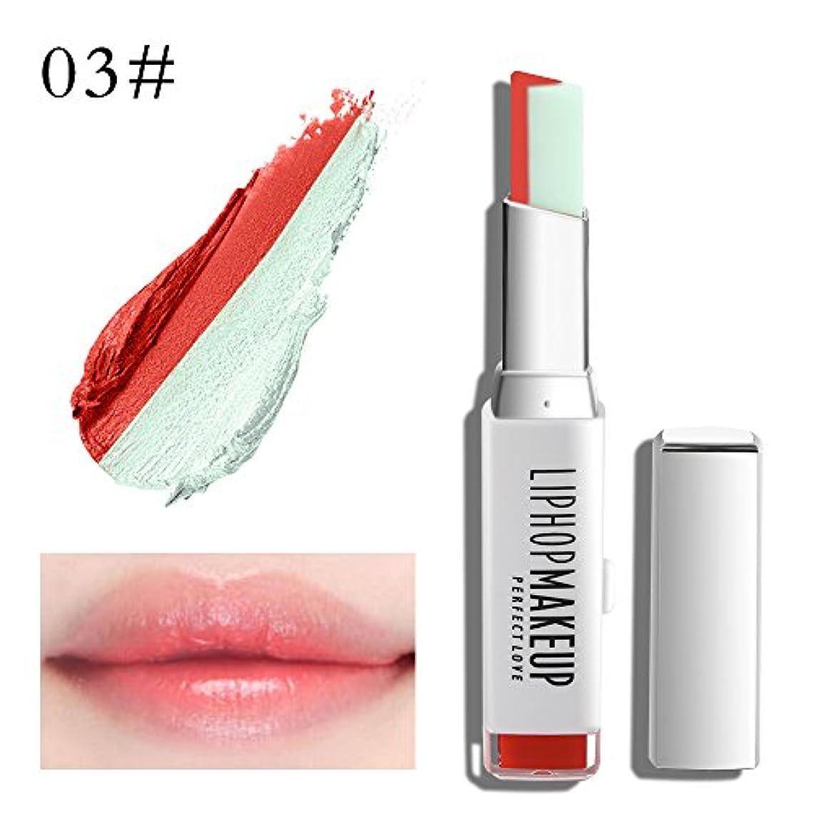 スペクトラム人里離れた力強い1 PC Popular Waterproof Women Multicolor New Two Tone Lipstick #3