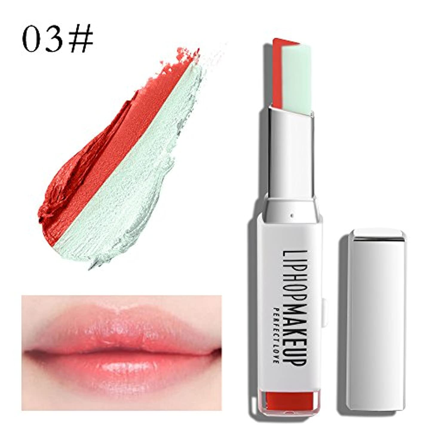 休憩空虚増強1 PC Popular Waterproof Women Multicolor New Two Tone Lipstick #3