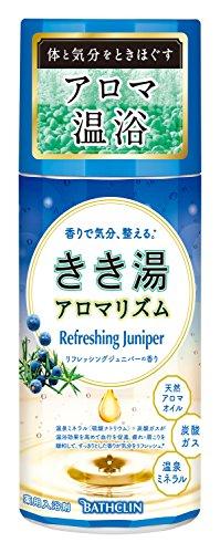 【医薬部外品】きき湯 アロマリズム リフレッシングジュニパーの香り 360g 入浴剤