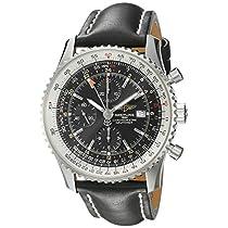 Breitling Men 's a2432212/ b726bkltブラックダイヤルNavitimer World Watch