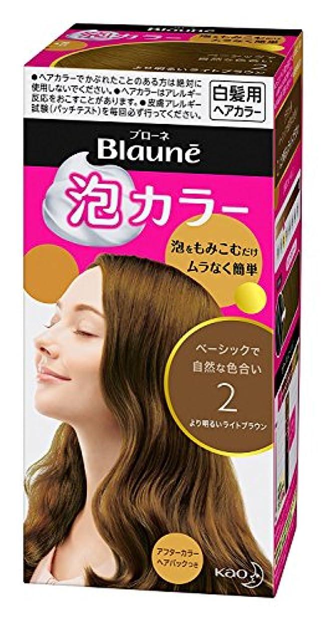 鹿補足分散【花王】ブローネ泡カラー 2 より明るいライトブラウン 108ml ×20個セット