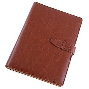 【段取り達人】 システム手帳 定番のシンプルなデザイン ビジネスからプライベートまで 6穴リング リング内径21mm カードポケット付(A5サイズ・ブラウン)
