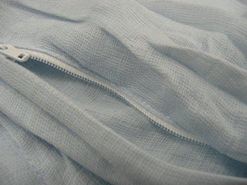 シングル 京都西川 綿100% 二重ガーゼ 毛布カバー (無地3色) (アイボリー)
