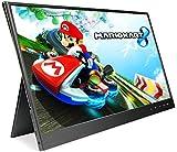 Nintendo Switch用15.6インチHDRモバイルタッチモニター IPSパネル 1920 * 1080解像度60HZ タッチディスプレUSB Type-C 給電タッチ/HDMI*2/スピカー内蔵/専用ケース PS3 PS4 ニンテンドースイッチゲーム用 スクリン 超薄5mm/重量:765g 画像比:16:9/4:3/5:4 OSD言語:日本語