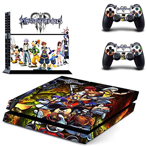 PS4 スキンシール キングダムハーツ 本体用&コントローラ...