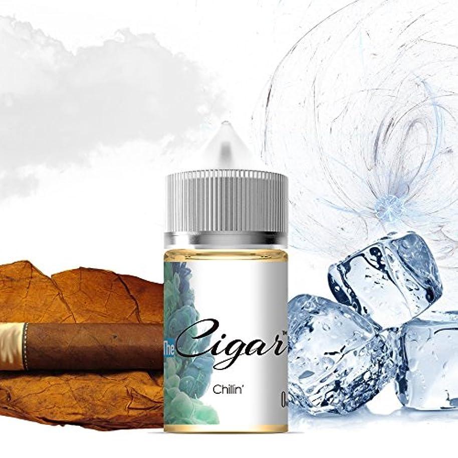 日帰り旅行に審判フォーム国産電子タバコリキッド The Cigar 30ml ニコチン無し By VAPE VILLAGE (Chillin')