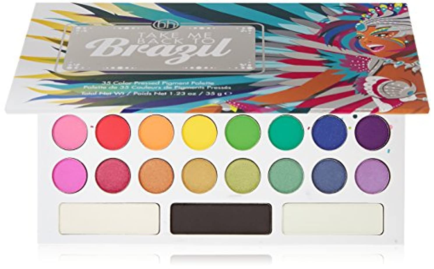 受信機地下室社員BH Cosmetics Take Me Back To Brazil - 35 Color Pressed Pigment Palette