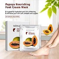 [5値のペア] MOND'SUB保湿足マスク - プロフェッショナルベビー足&ひびの入ったかかとや足ドライスキン用スパ品質の足の治療ソックス - 深く天然パパイヤオイルを修復