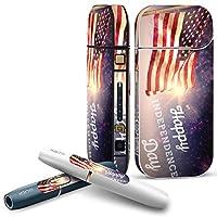 IQOS 2.4 plus 専用スキンシール COMPLETE アイコス 全面セット サイド ボタン デコ アメリカ 外国 国旗 011705
