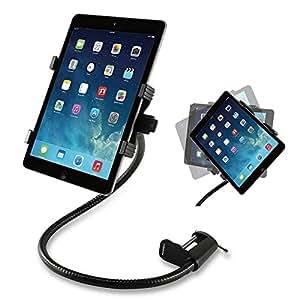 Jobson 【強固クランプ式搭載】ipad / i pad air / ipad mini 各種 タブレット 対応 強固 アーム スタンド 卓上 デスク ベッド 取り付け / Android Nexus 7 , REGZA Xperia Galaxy ARROWS tab, SONY ELUGA Live Kindle まで対応 JB-364 (7-12inchまで対応) [メーカー長期18ヶ月保証] (ブラック)