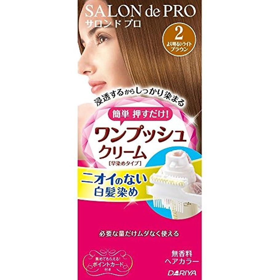 一人で食い違い役に立つサロンドプロ ワンプッシュクリームヘアカラー 2 40g+40g