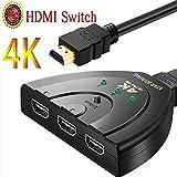 HDMI切替器/4Kx2K/HDMI分配器/セレクター スイッチ 3入力1出力/4K高解像度 3D対応 手動切替 ケーブル PS4/液晶テレビ/DVD Player/Chromecast/Xbox/AppleTV /PC など対応 (HDMI 分配器4K) STAR JOINING ShenZhenSh...