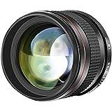 Neewer 85mm f/1.8望遠レンズ マルチコート 非球面 手動フォーカス HDガラス 肖像画 Canon EOS 80D 70D 60D 60Da 50D 7D 6D 5D 5DS 1Ds Rebel T6s T6i T6 T5i T5 T4i T3i T3 T2i SL1などのDSLRカメラに対応
