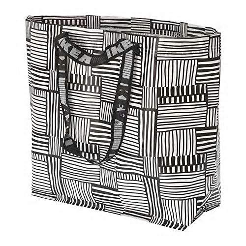 IKEA/イケア KLAMBY キャリーバッグ36 L Mサイズ ホワイト/ブラック304.292.84
