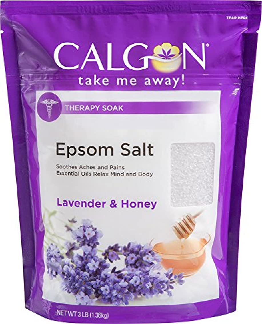 筋登録物思いにふけるCalgon リジュエプソム塩(ラベンダーと蜂蜜、48オンス)