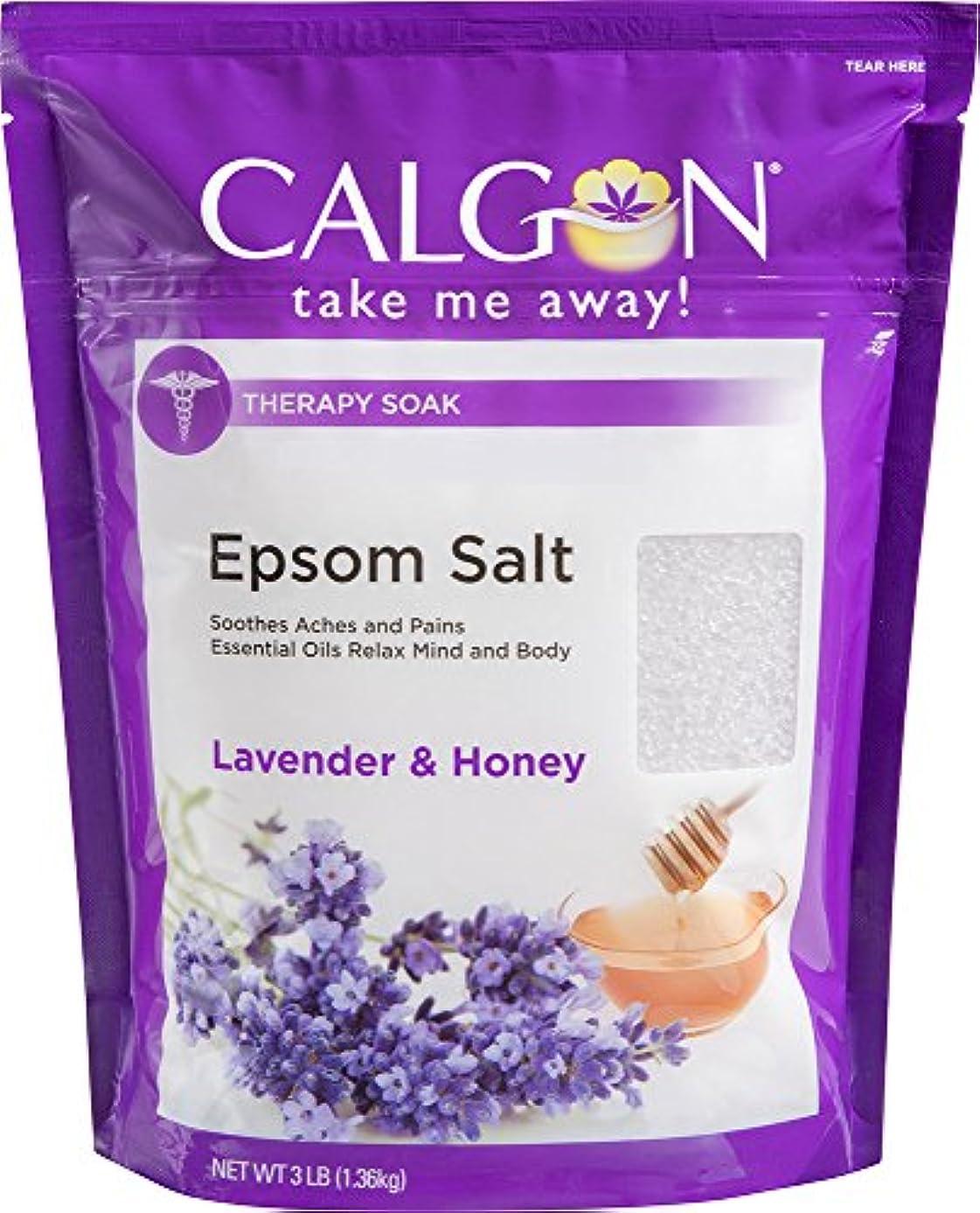 寸法リビングルーム甥Calgon リジュエプソム塩(ラベンダーと蜂蜜、48オンス)