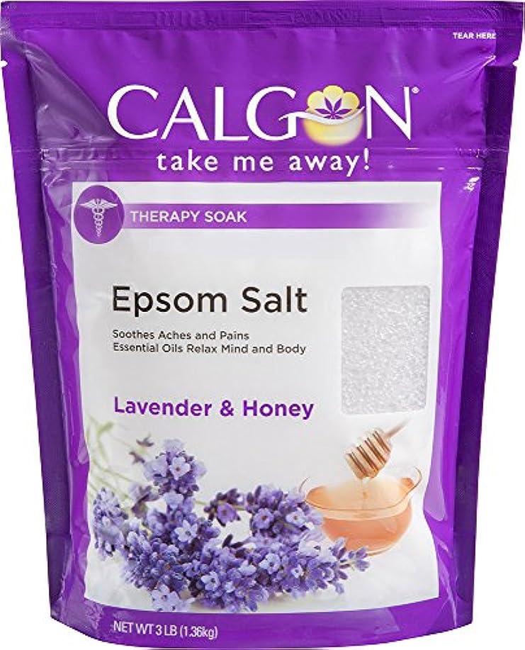 刺します発言する道路Calgon リジュエプソム塩(ラベンダーと蜂蜜、48オンス)