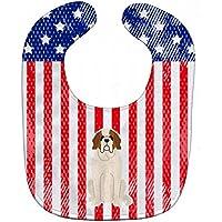 Caroline 's Treasures bb3030bib Patriotic USAベビーよだれかけ、セントバーナード、ラージ