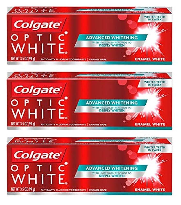 これまで風景ストレスColgate オプティックホワイト虫歯予防フッ素の歯磨き粉、エナメルホワイト、ルミナスミント3.5オンス(3パック) 3パック