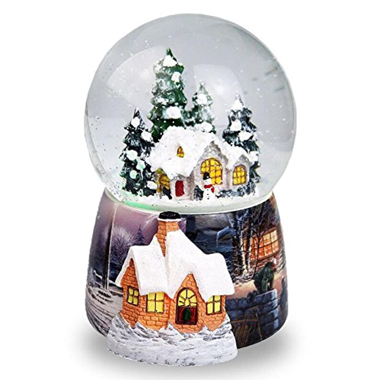 Royarebar クリエイティブ ベビー おもちゃ オルゴール クリスマス スノーハウス クリスタルボール スノーフラック オルゴール 誕生日プレゼント用