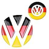 VW フォルクスワーゲン トランク ハンドル 3D 立体 ステッカー 2枚 セット