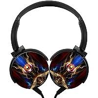 Signet ORBステレオヘッドフォン軽量マイクover、かわいい耳付きヘッドセット、iPhone、iPad、スマートフォンとテレビ3.5MMブラック