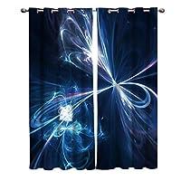 遮光カーテン 輝く 科学感 光 ドレープカーテン おしゃれ 断熱 遮熱 防音 昼夜目隠し 遮像 デコレーション 洗濯可 取り付け簡単 100cmx160cmx2