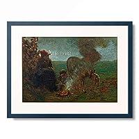 ジョヴァンニ・セガンティーニ Giovanni Segantini 「Giornata fredda di novembre (Kalter Novembertag), 1883/84.」 額装アート作品