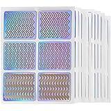 ACHICOO ネイルステッカー 6PCS / 12PCS / 24PCS ファッション クール レーザー紙 ネイルビューティー ネイルデカール ネイクツール フランス風 12枚/セット 通常の仕様