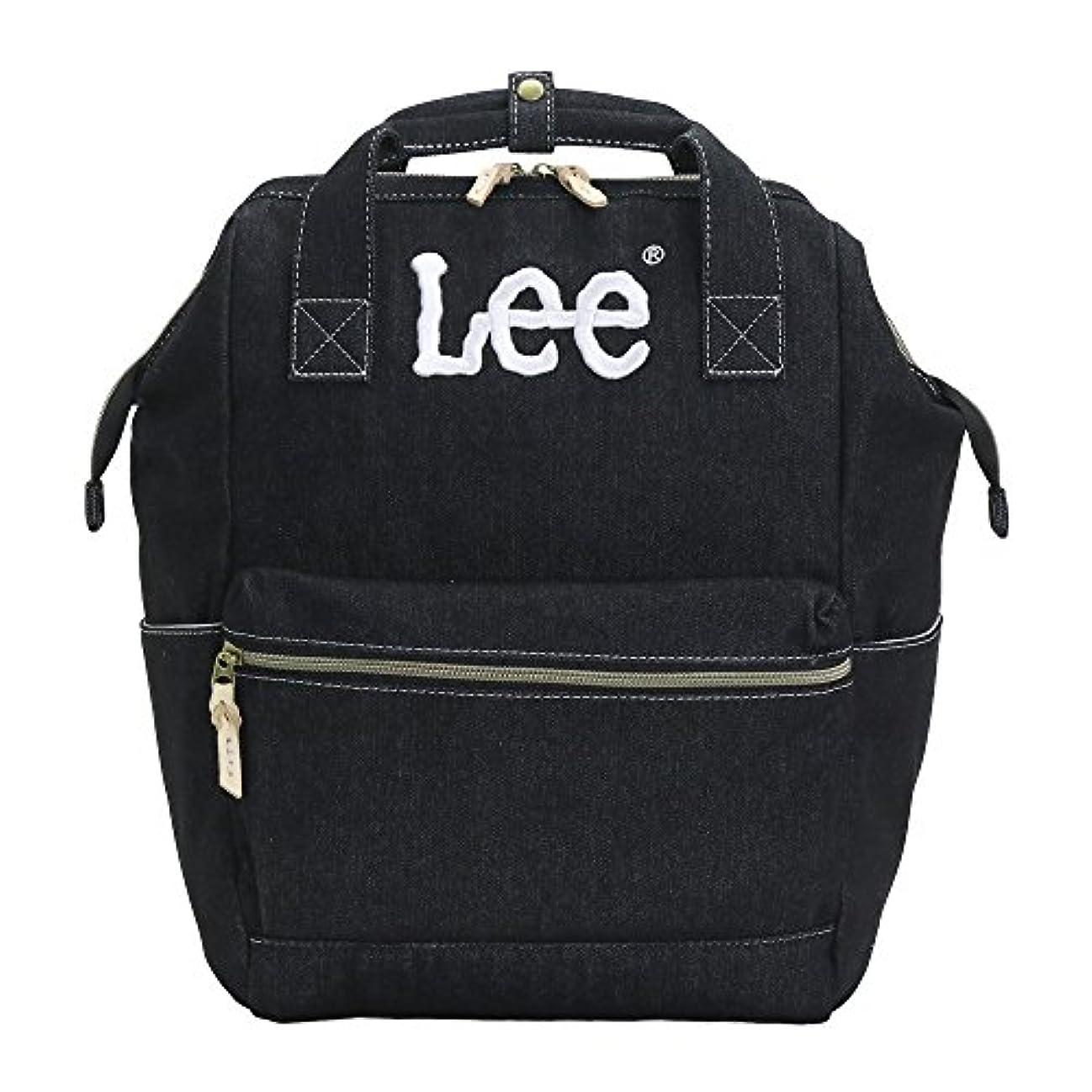 ありがたい猫背特異な[リー]Lee リュック リュックサック デイパック デニム 口金 メンズ レディース 0420909 lee-006 (ブラック)