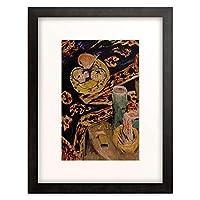 エルンスト・ルートヴィッヒ・キルヒナー Ernst Ludwig Kirchner 「Still life with fruit bowl and candle. About 1917/18」 額装アート作品