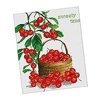 クロスステッチキット 刺繍キット 図案印刷 11CT Sweety Time 刺繍ツール付き
