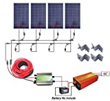 ECO-worthy 400w ソーラーパネル & 30A PWM チャージャーコントローラー&1KW 正弦波 オフグリッド インバーター