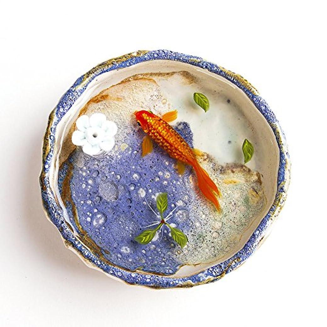 フォーカス地平線サンダースお香立て お香たて 香の器 お香を焚いて 香皿,陶磁器、ブルー