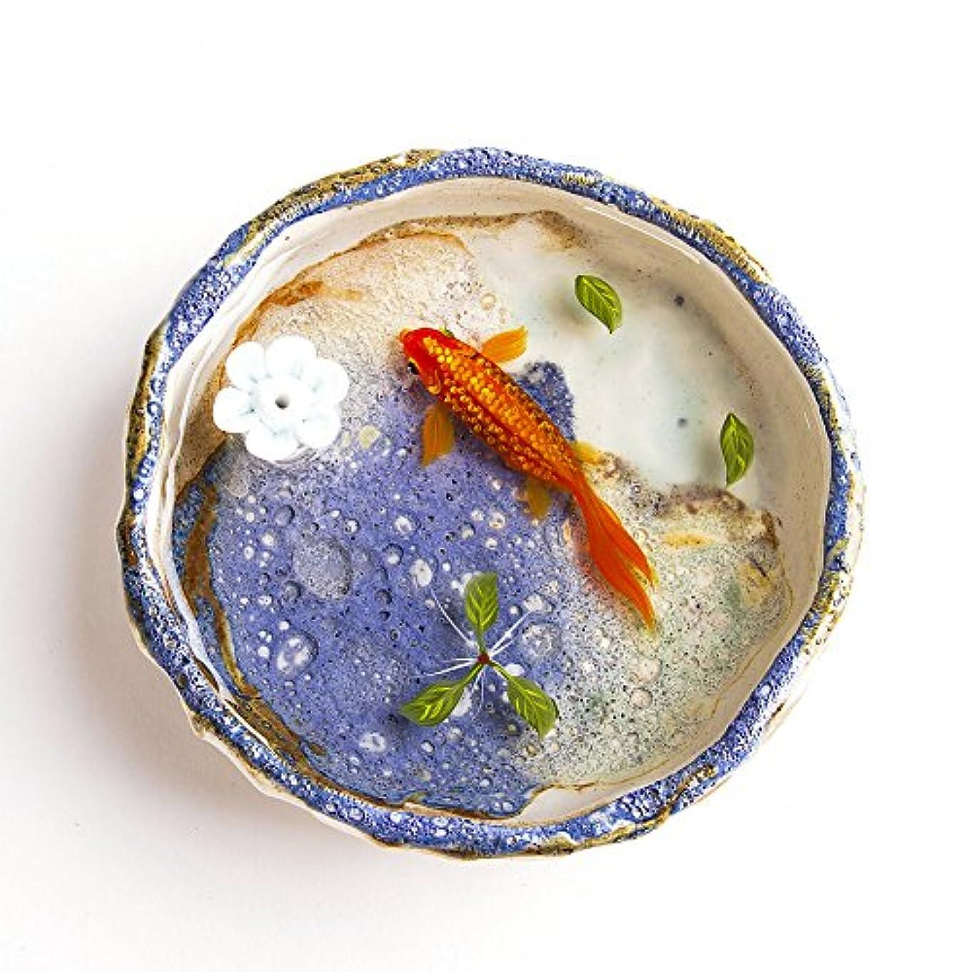 素晴らしい証明する月お香立て お香たて 香の器 お香を焚いて 香皿,陶磁器、ブルー