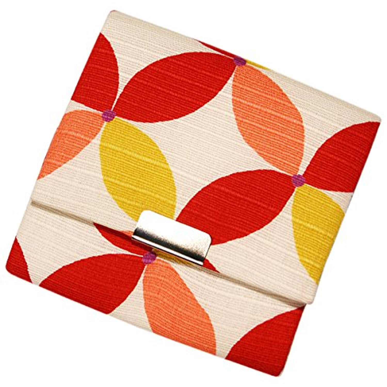 小銭入れボックス型 七宝 赤シロ