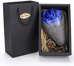 魔法の 枯れない花 ソープ 石鹸 ソープフラワー 造花 ミニブーケ バラの花束 ローズ cherry red 大切な方に シャボンの香り レッド ブルー 青いバラ 赤いバラ(7本, 全2色)