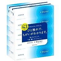 エリエール +Water(プラスウォーター) 180組360枚×5箱入り パルプ100%