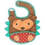 Skip Hop Zoo Tuck-Away Baby Bib, Hedgehog