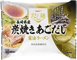 K&K だし麺 長崎県産炭焼きあごだし醤油ラーメン 107g×10個