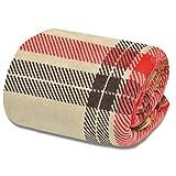 ottostyle.jp フランネル マイクロファイバー 毛布 【タータンチェック/ベージュ】 シングル 幅140cmx200cm フワッとやさしい肌触り ふんわり やわらか