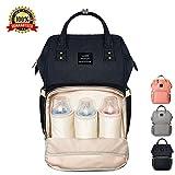 マザーズバッグ ママバッグ ママ旅行用バッグ Ticent多機能旅行用バッグ 大容量 防水で汚れにくい リュック (ブラック)